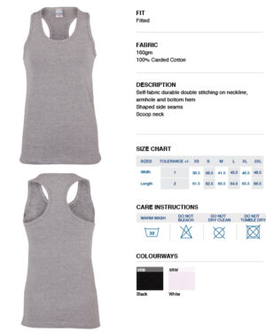 Fact file for Ladies vest