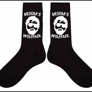 Groom's Wolfpack Cotton Socks