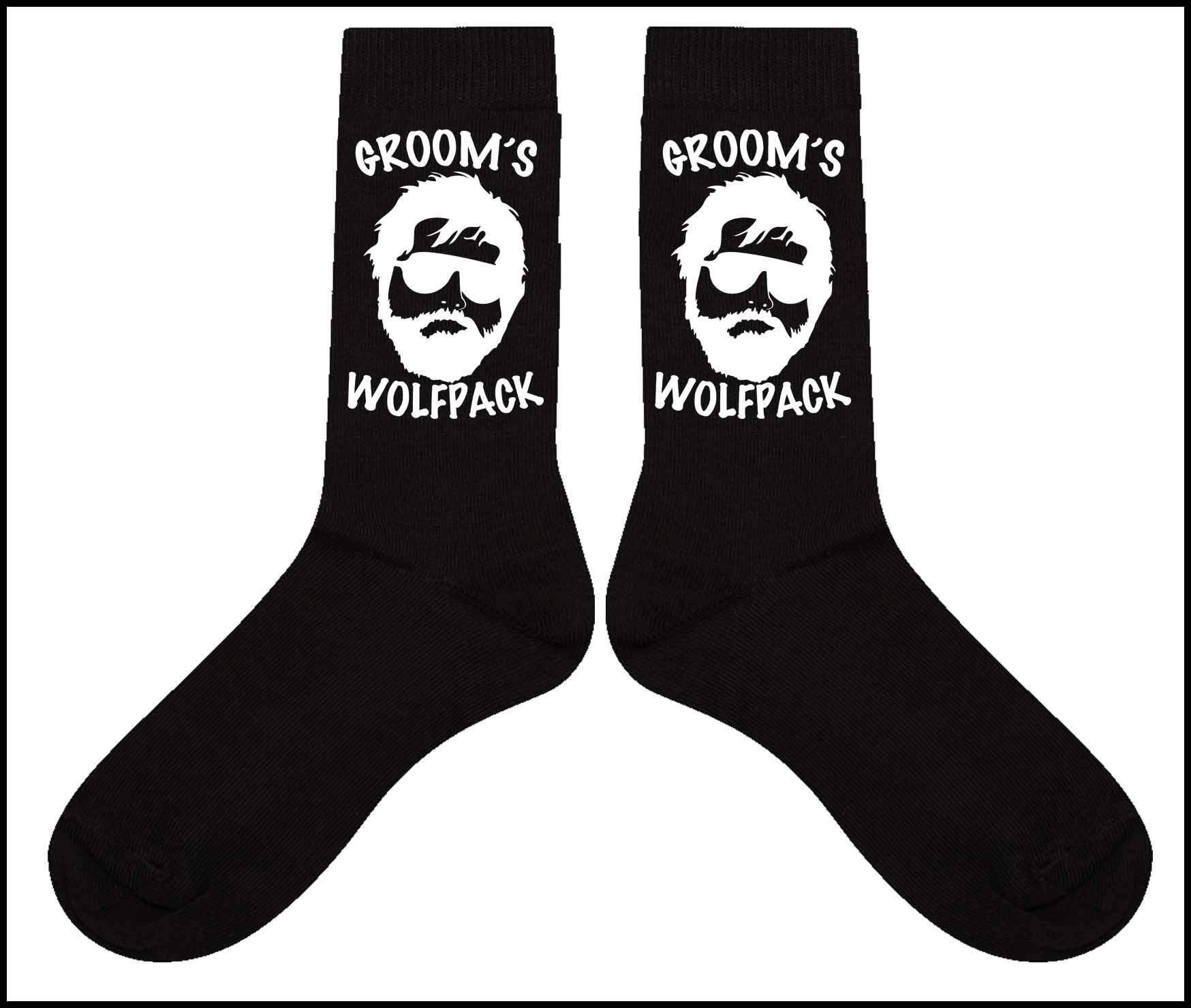 Groom's Wolfpack Cotton Socks