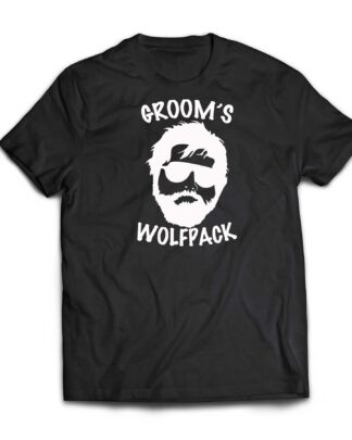 Groom's wolfpack cotton T-shirt