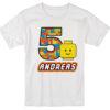 Lego children custom birthday party T-shirt