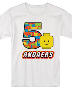 Lego children custom birthday party T-shirt