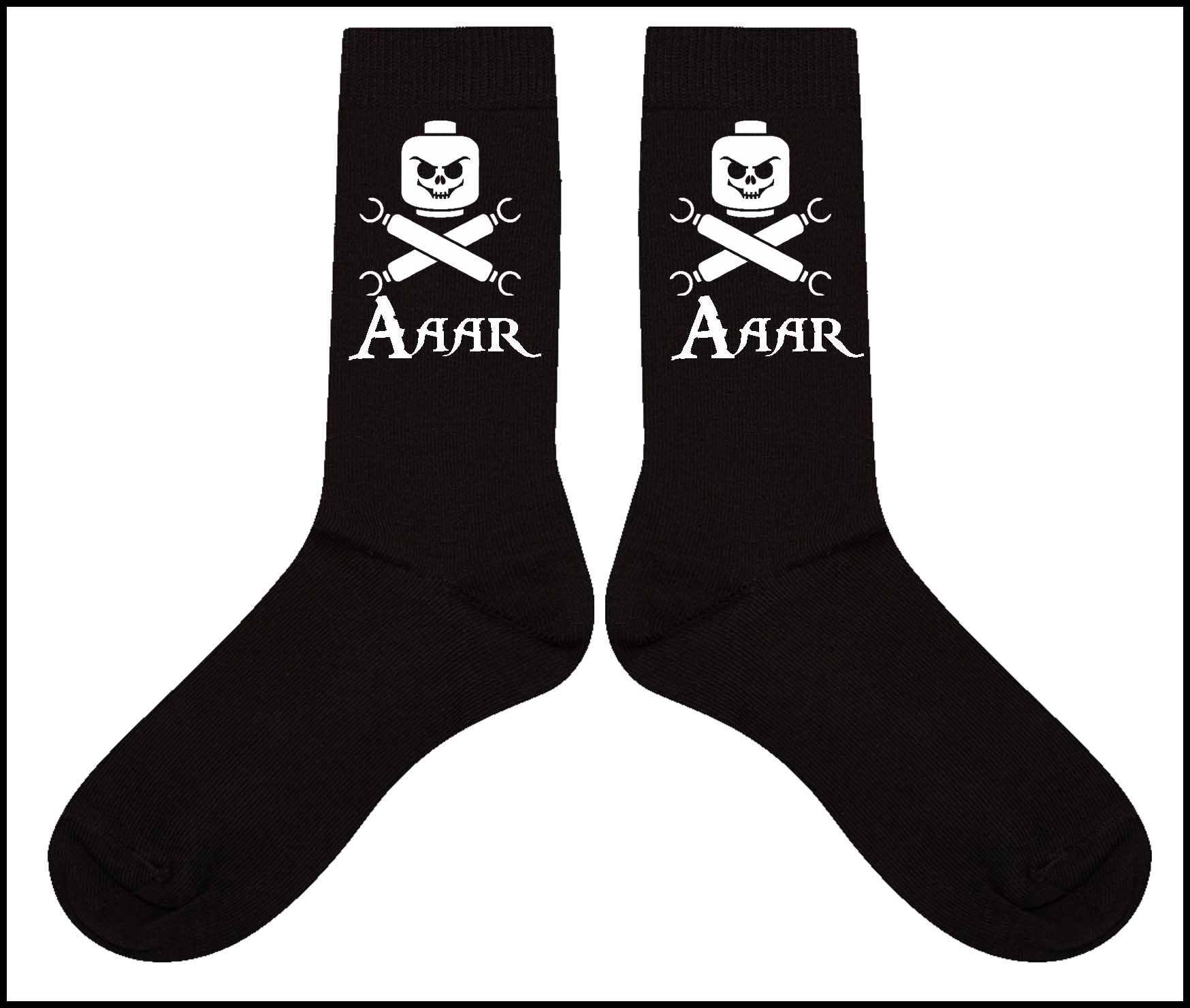 Lego skull and crossbones cotton men's Socks