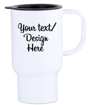 Customisable polymer travel mugs