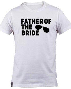 Aviator Sunglasses Father of the Bride White T-shirt