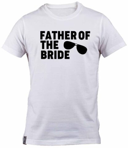 Aviator Sunglasses Father of the Bride White T-shirt