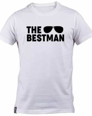 Aviator sunglasses The Best man white cotton T-shirt