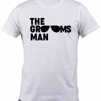 Aviator sunglasses The Groomsman 100% cotton White T-Shirt