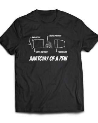 Anatomy of a pew cotton T-shirt