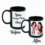 Black coffee mugs