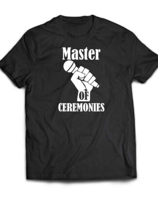 Master of ceremonies wedding cotton T-shirt