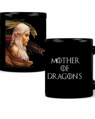 Mother of dragons black coffee mug