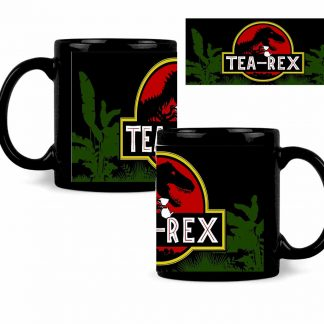 Tea Rex Black coffee mug