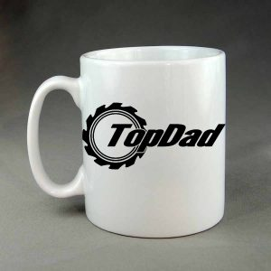 Top dad custom white coffee mug