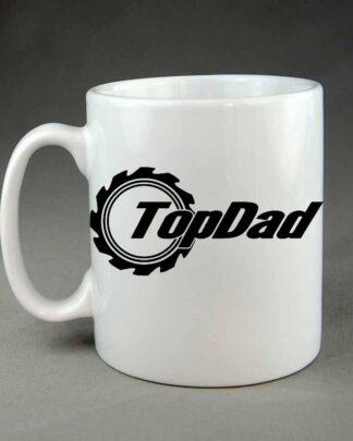 Top dad custom white coffee mug