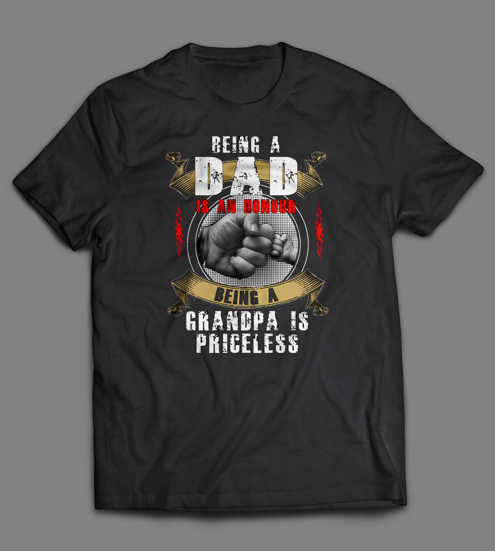 Being a dad is a honour being a Grandpa is Priceless Cotton T-shirt