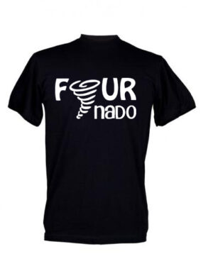Fournado 4 year old Kids Birthday T-shirt