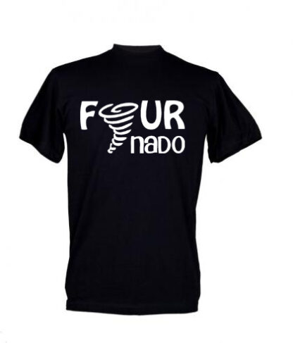 Fournado 4 Year Old Kids Birthday T Shirt
