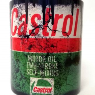 Messy oil can Coffee mug Castrol 2 Stroke White
