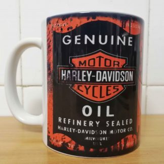 Messy oil can Coffee mug Harley Davidson White