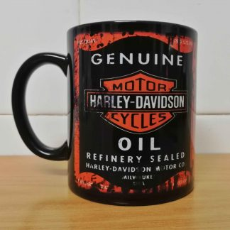 Messy oil can Coffee mug Harley Davidson Black