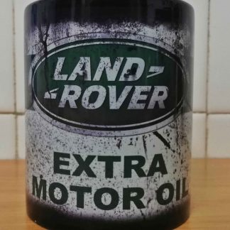 Messy oil can Coffee mug Land Rover Black