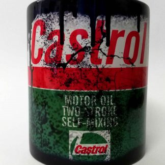 Messy oil can Coffee mug Castrol 2 stroke Black