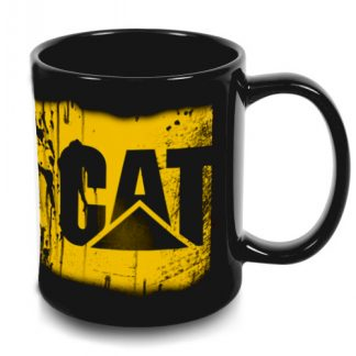 Cat messy oil can coffee mug