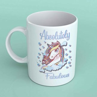 Absolutely fabulous unicorn coffee mug