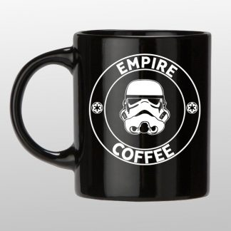 Empire coffee black coffee mug