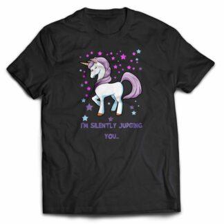 I'm silently judging you unicorn T-shirt