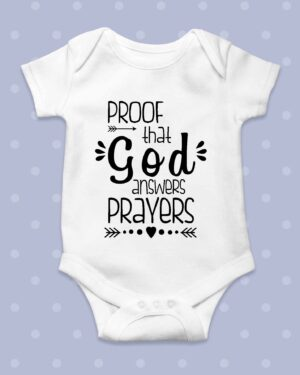Proof that God answers prayers Baby Grow