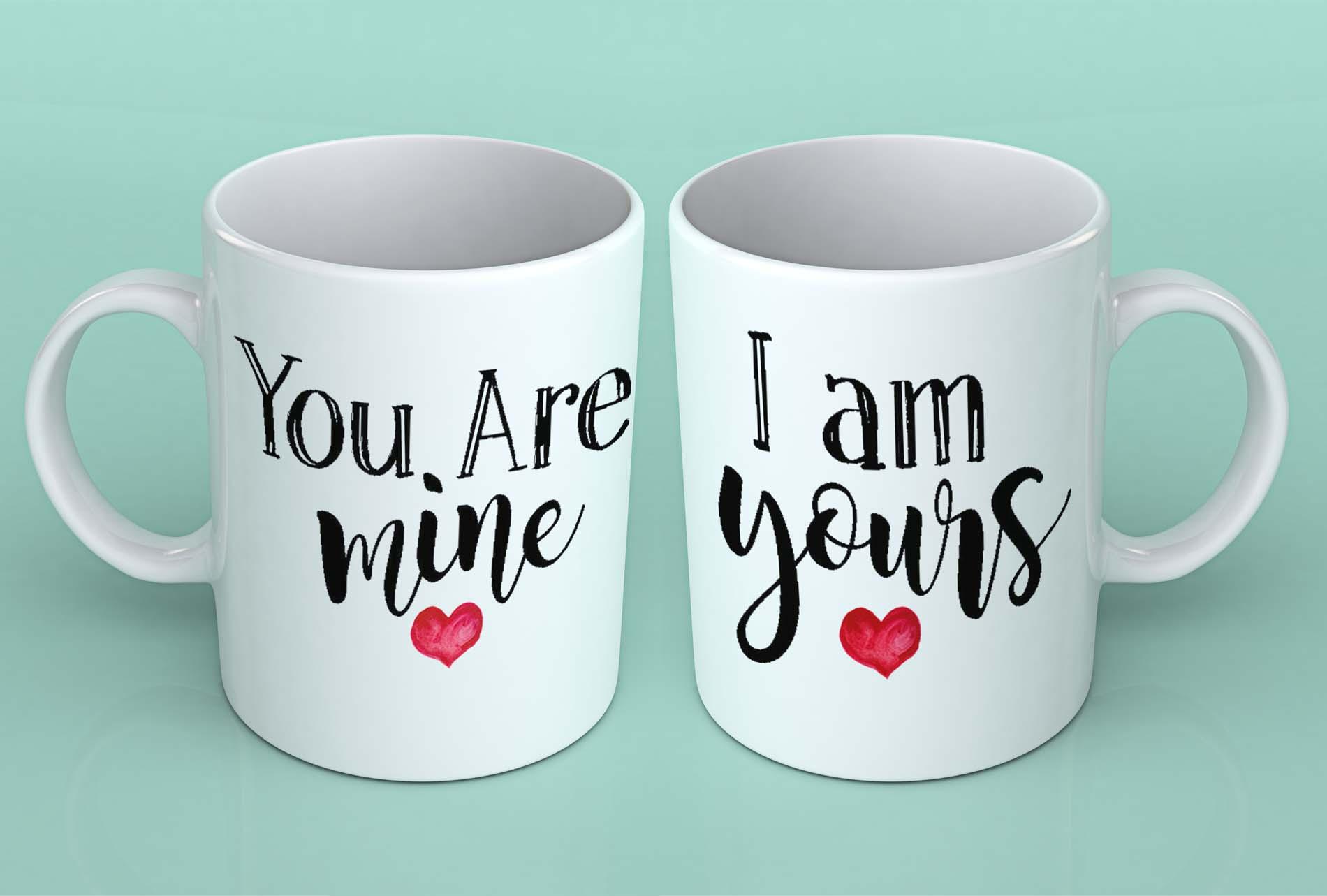 You Are Mine I Am Yours Cute Couple Coffee Mugs Mugman