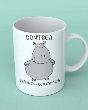 Hippo twatamus white coffee mug