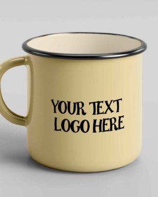 Customised tin enamel mug