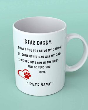 Dear Daddy pet coffee mug