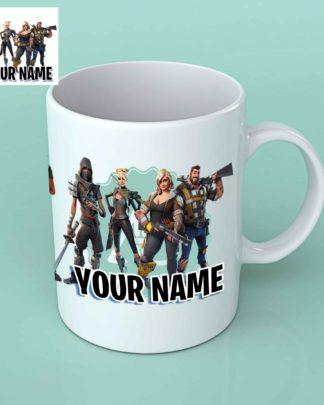 Fortnite characters personalised white coffee mug