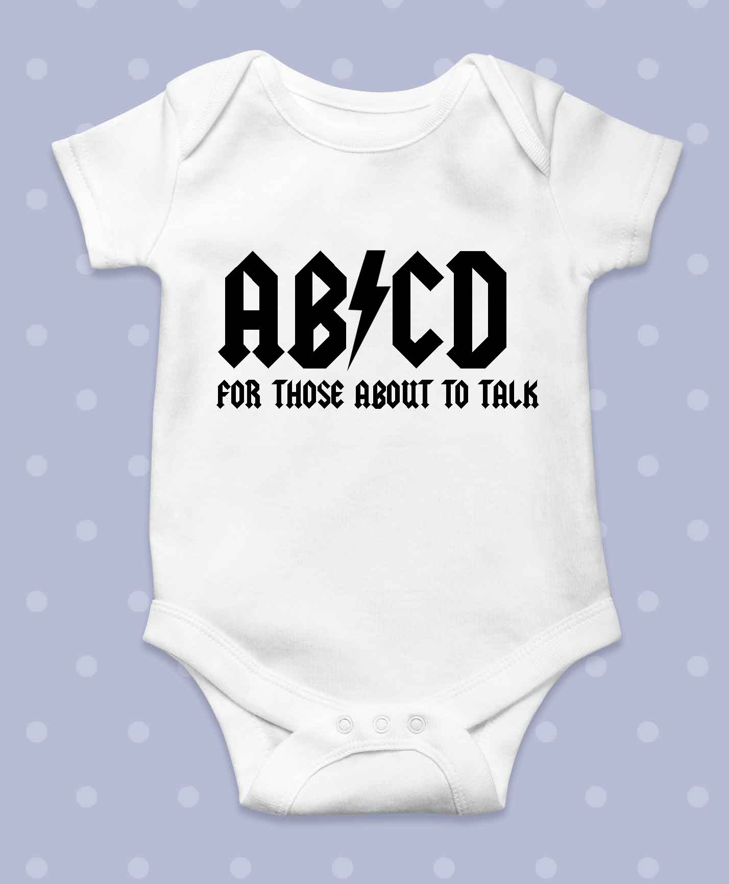 ABCD BABYGROW FUNNY GIFT AC DC