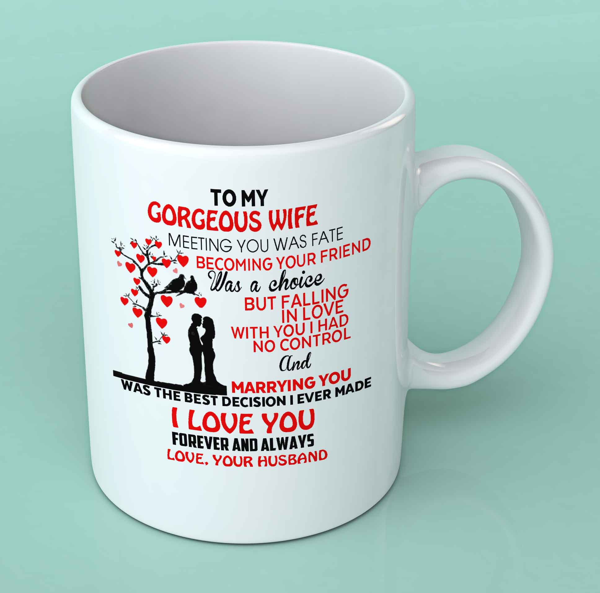 68ae2549a61 To my gorgeous wife coffee mug - Mugman