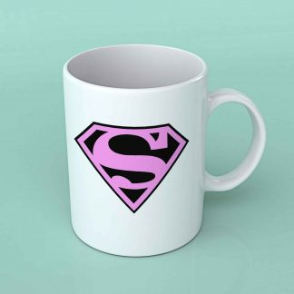 Superman pink ladies coffee mug