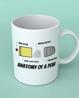 Anatomy of a pew coffee mug