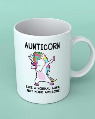 Aunticorn Aunty Unicorn white coffee mug