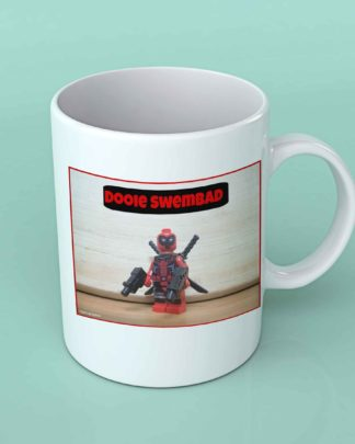 Dooie Swembad deadpool Legotographer white coffee mug
