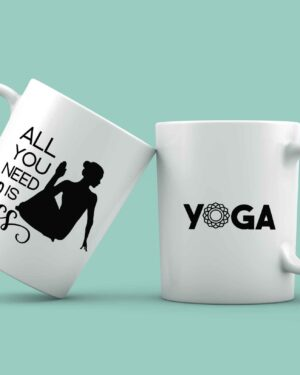 All you need is less coffee mug yoga