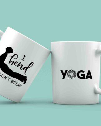 I bend so i don't break yoga coffee mug
