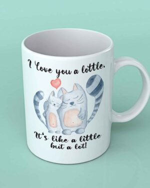 I love you a lottle cats coffee mug