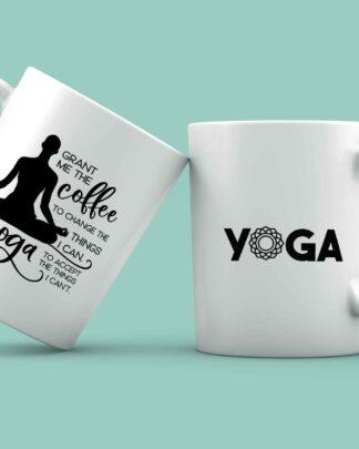 Grant me the coffee yoga coffee mug