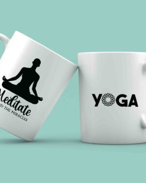 Meditate and find the miracles yoga mug