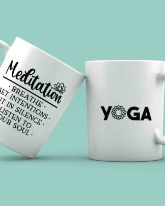 Meditation yoga coffee mug