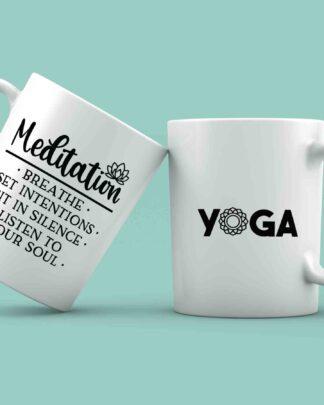 Meditation yoga coffee mug